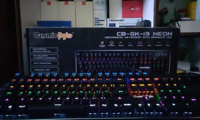 Cosmic Byte CB-GK-13 Review. Best mechanical keyboard under Rs.2000